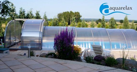Inteligentny Zadaszenie basenowe Szafir | Przykrycie basenu | AquaRelax JN26